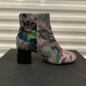 Rag & Bone: Drea Floral Velvet Boots